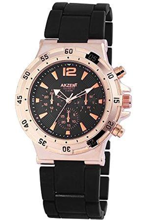 Akzent Men's Quartz Watch SS8841000014 with Metal Strap