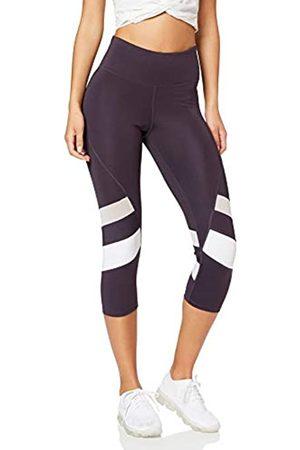 AURIQUE Amazon Brand - Women's Capri Panelled Sports Leggings, 10