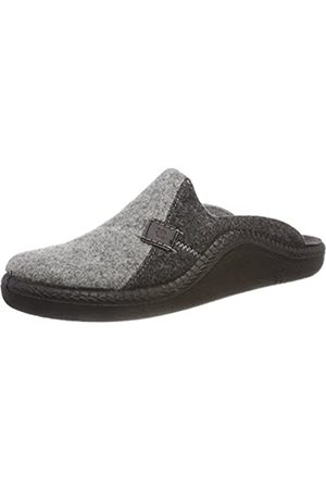 Romika Men's Mokasso 302 Open Back Slippers, (Hellgrau-Kombi 721 721)