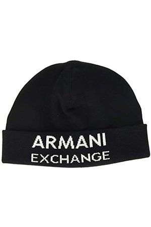 Armani Men's Beanie Hat with Horizontal Logo Beret