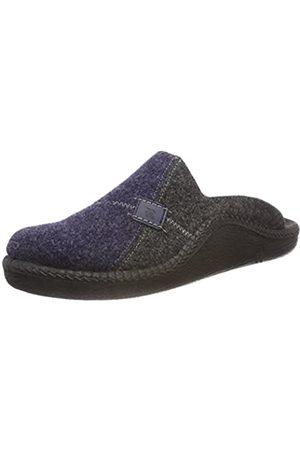 Romika Men's Mokasso 302 Open Back Slippers, (Marine Kombi 521 521)