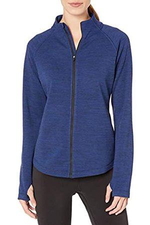 Amazon Fleece Lined Full-zip Mockneck Jacket Navy Spacedye