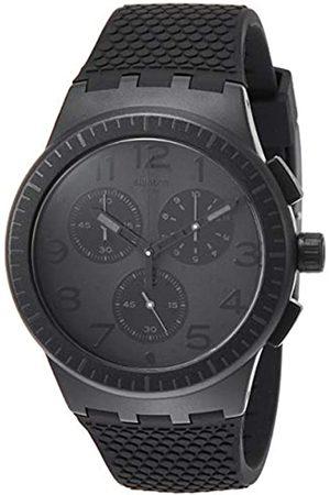 Swatch Men's Chronograph Quartz Watch with Silicone Strap SUSB104