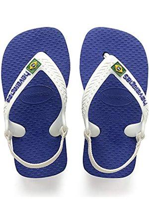 Havaianas Unisex Babies' Brasil Logo II Flip Flops (Marine )