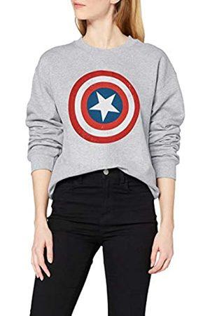 Marvel Women's Avengers Captain America Distressed Shield Sweatshirt