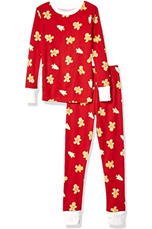 Essentials Baby Girls Long-Sleeve Tight-fit 2-Piece Pajama Set
