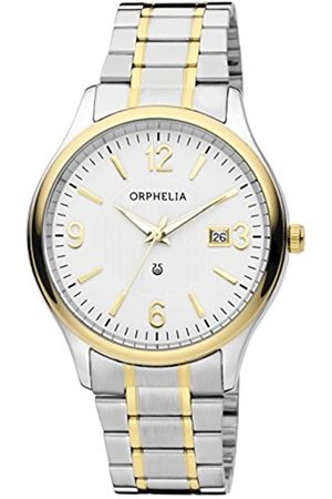 ORPHELIA Tradition Men's Quartz Watch with White Dial Analogue Display and Multicolour Stainless Steel Bracelet 62609