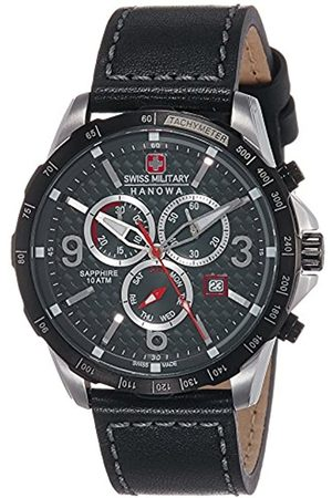 Swiss Military Hanowa Swiss Military Men's Quartz Watch with Dial Chronograph Display and Leather Strap 6-4251.33.001