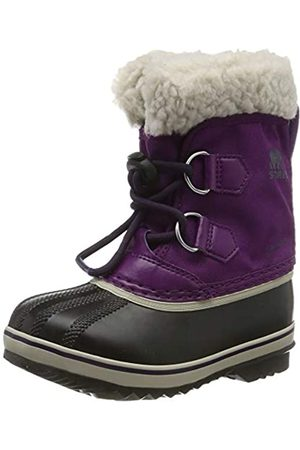 sorel Unisex Kid's Childrens Yoot PAC Nylon Snow Boot, Wild Iris, Dark Plum