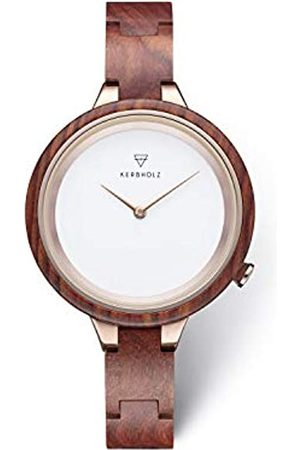 Kerbholz Mens Analogue Quartz Watch with Wood Strap WATWHIN9955