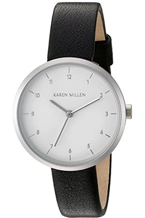 Karen Millen Women's Quartz Watch with Dial Analogue Display and Leather Strap KM135B