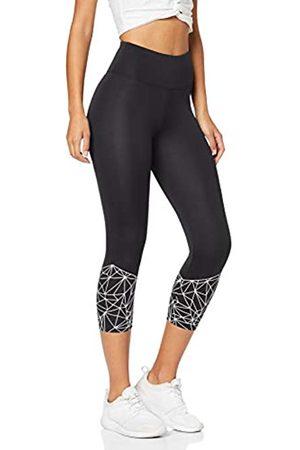AURIQUE Amazon Brand - Women's Cropped Sports Leggings, 14