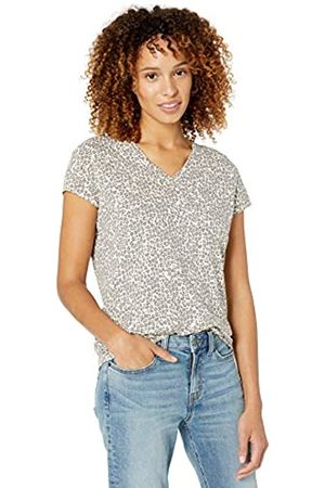 Goodthreads Vintage Cotton Pocket V-Neck T-Shirt Leopard