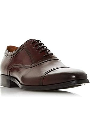 Dune Men's Summers Oxfords, (Burgundy-Leather Burgundy-Leather)