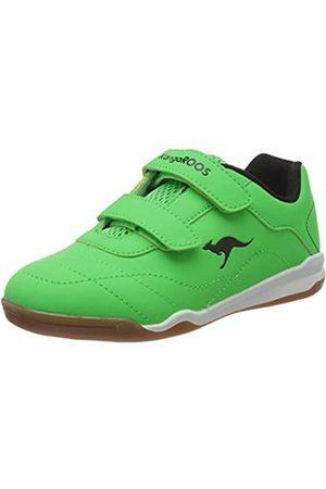 KangaROOS Unisex Kids' Wingyard V Low-Top Sneakers, (Neon /Jet 8028)