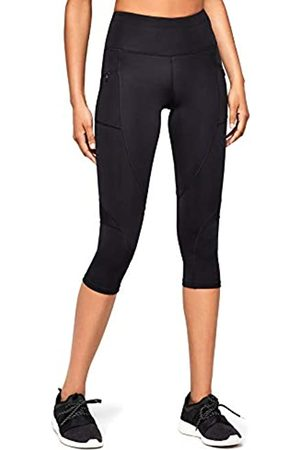 AURIQUE Amazon Brand - Women's High Waisted Capri Running Leggings, 14