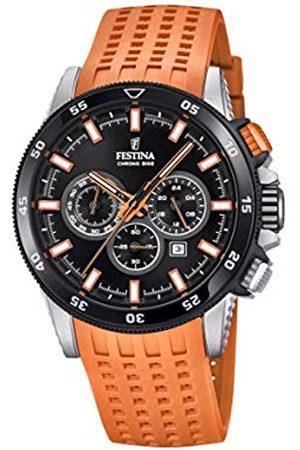 Festina Mens Chronograph Quartz Watch with Silicone Strap F20353/6