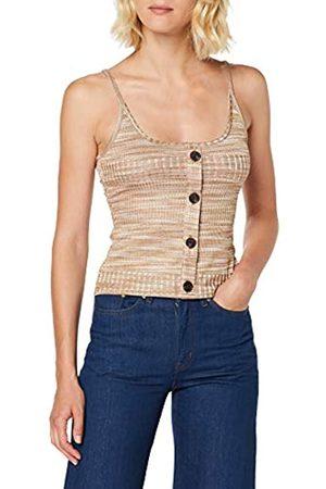 warehouse Women's Knit Button Through Vest Top