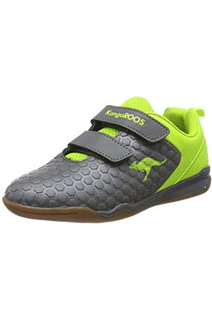 KangaROOS Unisex Kids' Speed Court V Multisport Indoor Shoes, (Steel /Lime 2014)