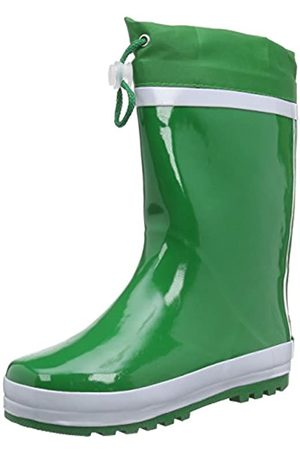 Playshoes Unisex Kid's Lined Rain Boot Wellies Basic Wellington Rubber, (Gruen 29)