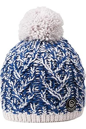 GIESSWEIN Pom-pom Beanie Himmelhorn Royal ONE - Soft Knitted hat for Ladies, with Merino Wool, Fluffy Bobble, Warm Lining of Fleece Inside