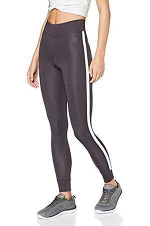AURIQUE Amazon Brand - Women's Side Stripe Sports Leggings, 8