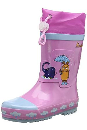 Playshoes Unisex Kid's Wellies Rain Boot Die Maus Wellington Rubber, (rosa 14)