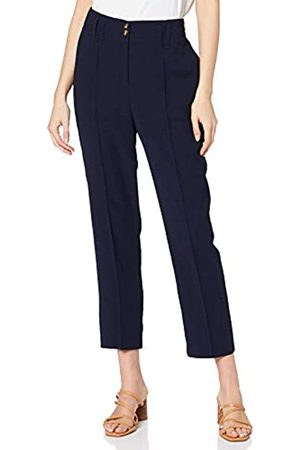Dorothy Perkins Women's Navy Tapered Trousers Work Utility Pants
