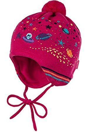 maximo Girl's Mütze, ausgenäht, Bommel, Bindeband, UFO Hat