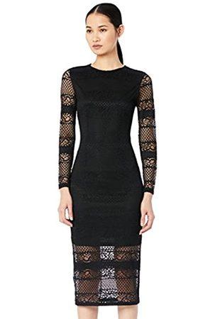 TRUTH & FABLE Amazon Brand - Women's Midi Lace Bodycon Dress, 12