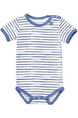 Fred's World by Green Cotton Baby Boys' Ocean Stripe S/s Body Shaping Bodysuit