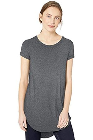 Daily Ritual Jersey Short-sleeve Open Crew Neck Shirt Charcoal Heather