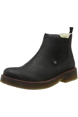 Rieker Women's Herbst/Winter Chelsea Boots, (Schwarz/Schwarz 00)