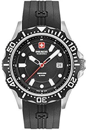 Swiss Military Mens Analogue Classic Quartz Watch with Silicone Strap 06-4306.04.007