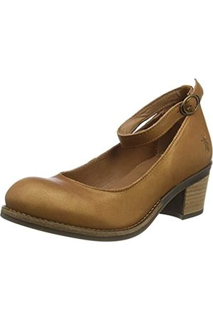 Fly London Women's ZAKE610FLY Ankle Strap Heels, (Cognac 002)