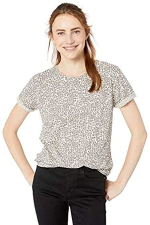Goodthreads Vintage Cotton Roll-sleeve Open Crew T-shirt Leopard