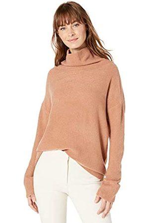 Lark & Ro Boucle Exaggerated Neck Sweater Mocha Mousse