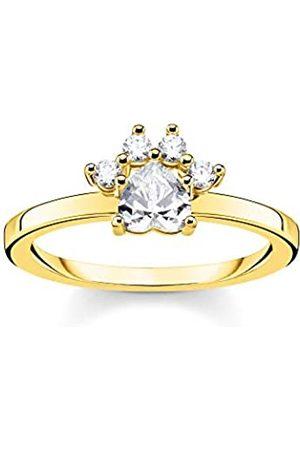 Thomas Sabo Women 925 Silver Silver Bullet Cubic Zirconia Ring - TR2289-414-14-56