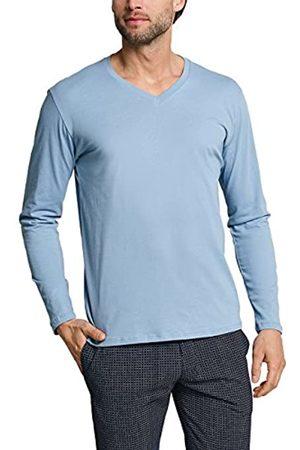 Schiesser Men's Mix & Relax Langarmshirt V-Ausschnitt Pyjama Top