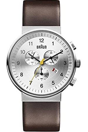 von Braun Men's Quartz Watch with Dial Chronograph Display and Leather Strap BN0035SLBRG