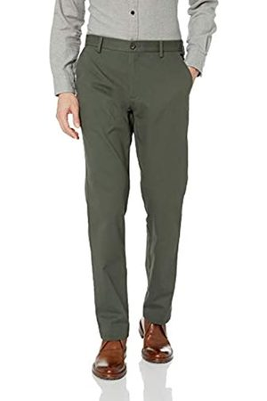 Amazon Men's Standard Straight-Fit Wrinkle-Resistant Flat-Front Chino Pant, Olive