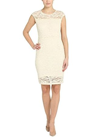 Berydale Women's Bd310 Dress with Lace, Multicoloured (Creme/Champagner)