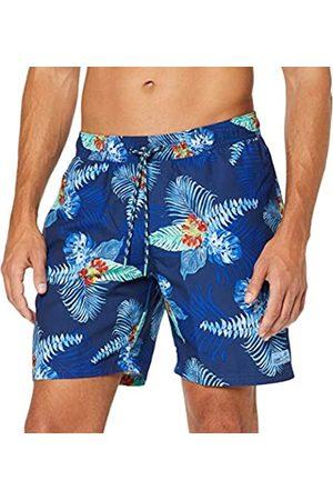 Izod Men's Palm Leaf Print Swim Trunk Short