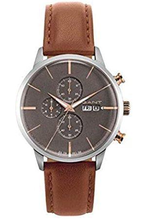GANT Mens Analogue Quartz Watch with Leather Strap 7630043923634