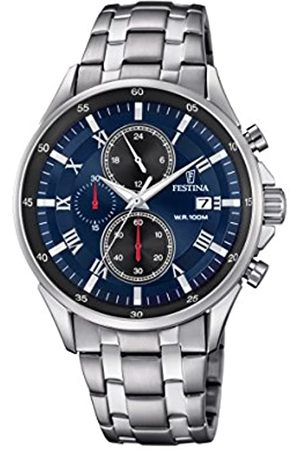 Festina Men's Quartz Watch Chronograph Display and Stainless Steel Strap F6853/2