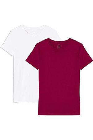 MERAKI Women's Short Sleeve Crew Neck T-Shirt Pack of 2