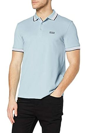 HUGO BOSS Men's Paddy' Plain Regular Fit Polo Shirt, (Charcoal 453)