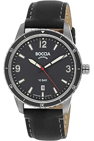 Boccia Men's Analogue Quartz Watch with Real Leather Strap 3635-01