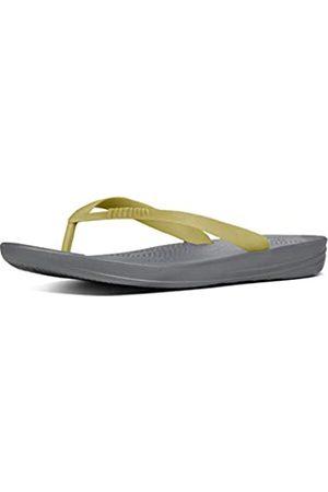 Fitflop Iqushion Ergonomic Flip-Flops, Men Open Toe Sandals, (Charcoal 189)