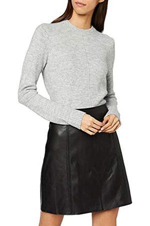 Warehouse Women's Seamed Detail PU Skirt